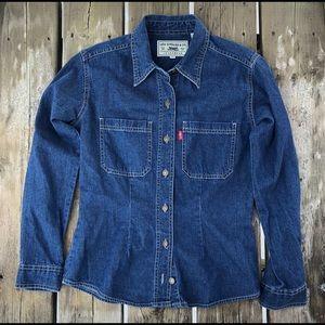 Levi Strauss & Co Jeanswear Denim Shirt Women's S